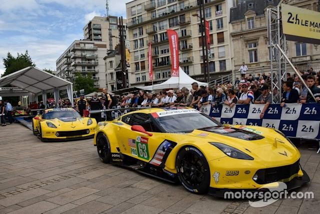 "#63 Corvette Racing Chevrolet Corvette C7.R, #64 Corvette Racing Chevrolet Corvette C7.R <span class=""copyright"">Marc Fleury</span>"