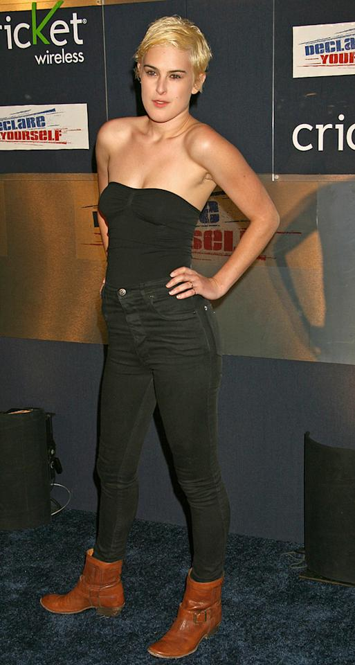 """If you think this outfit worn by the style-challenged Rumer Willis is bad, wait until you see what the next image has to offer. Ciao Hollywood/<a href=""""http://www.splashnewsonline.com"""" target=""""new"""">Splash News</a> - September 27, 2007"""