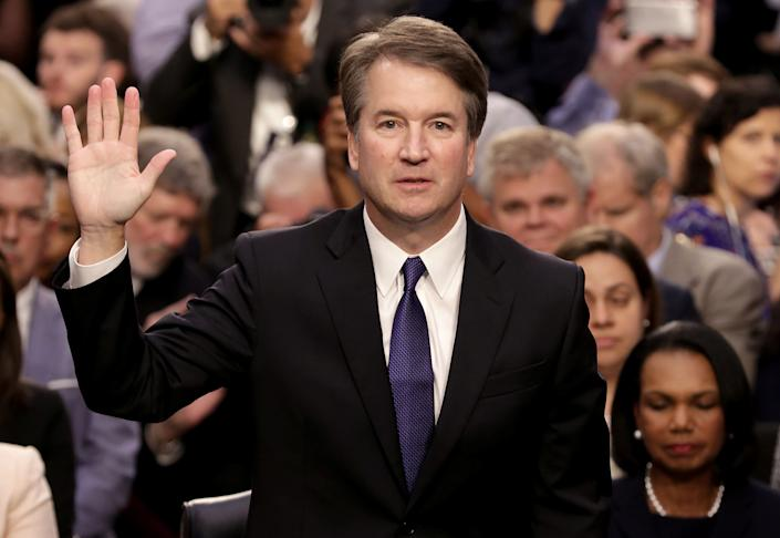 Kavanaugh is sworn in before the Senate judiciary committee during his Supreme Court confirmation hearing on Sept. 4. (Photo: POOL New / Reuters)