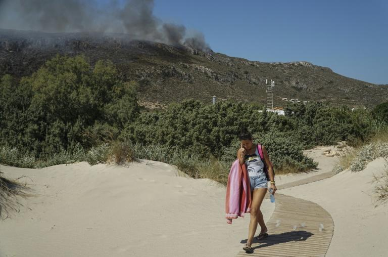 Greek emergency services battled fires all weekend noting it was the first time since 2012 the country had faced such a dangerous mix of high temperatures, strong winds and low humidity (AFP Photo/-)