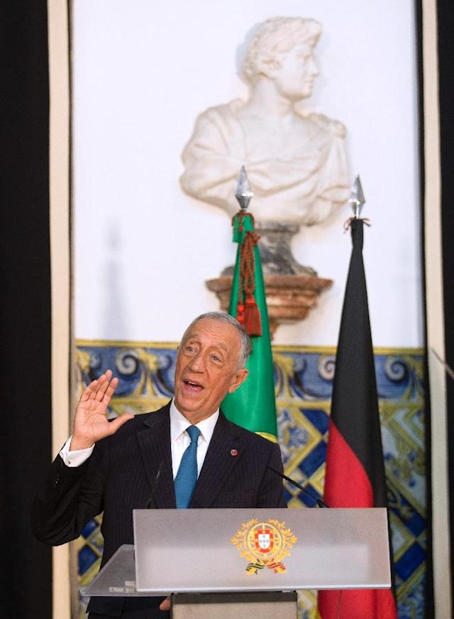 "Portuguese President Marcelo Rebelo de Sousa has expressed his ""concern"" over Sporting Lisbon attack (AFP Photo/JOSE MANUEL RIBEIRO)"