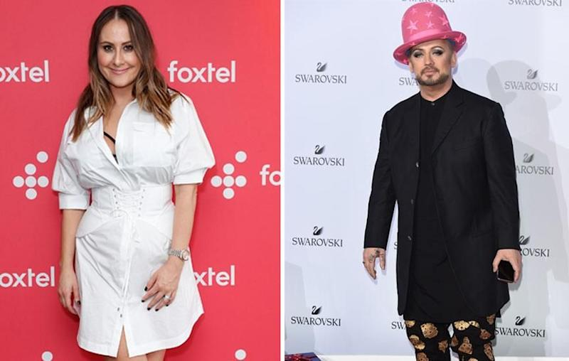 Real Housewives Of Melbourne star Jackie Gillies (L) and music sensation Boy George (R) have shown their support towards the victims after a car ploughed into pedestrians in central Melbourne on Thursday. Source: Getty