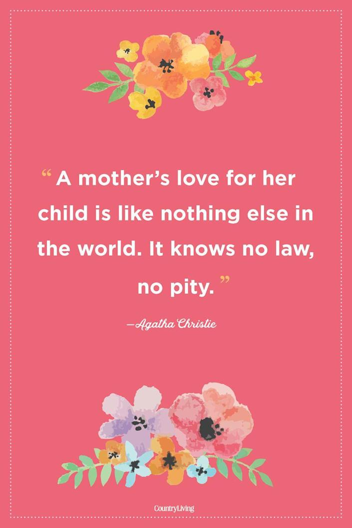 """<p>""""A mother's love for her child is like nothing else in the world. It knows no law, no pity.""""</p>"""