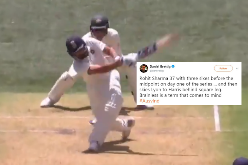 Rohit Sharma's 'Brainfade' Moment During First Test Against Australia Has Fans Fuming
