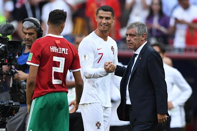 Fernando Santos joked that Cristiano Ronaldo is in such good form because of his own coaching skills (AFP Photo/Kirill KUDRYAVTSEV)