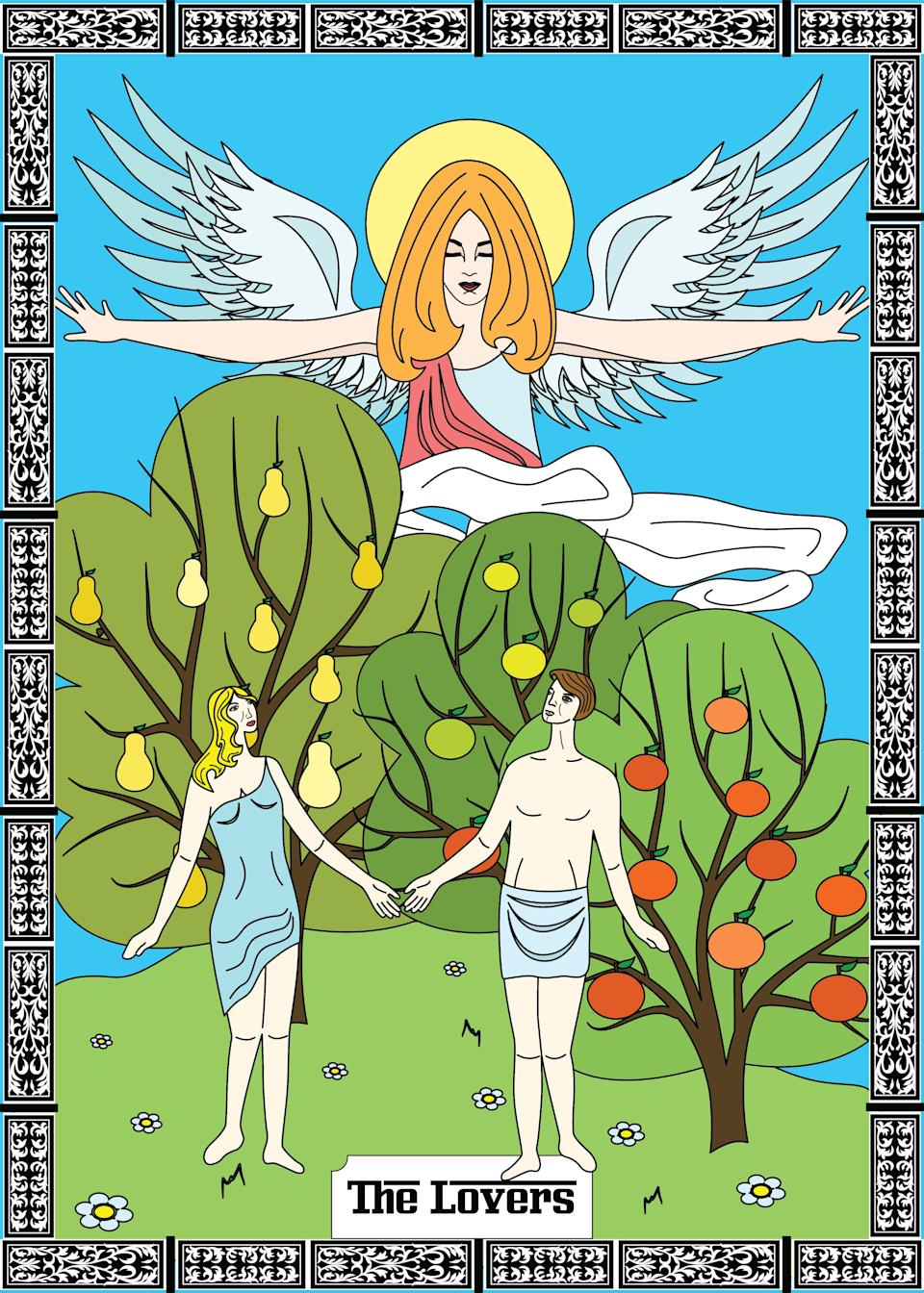 """<h1 class=""""title"""">the lovers card in major arcana</h1><cite class=""""credit"""">Getty Images</cite>"""