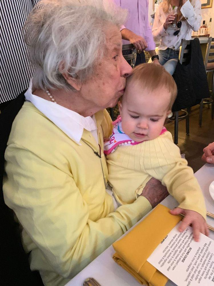 Great-Grandmother Has 100th Birthday with Great-Granddaughter, 1