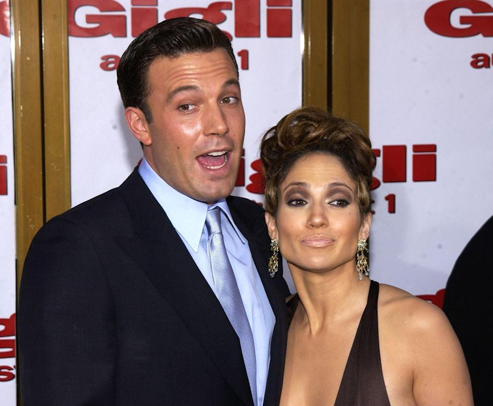 <p>Looking carefree at the Gigli premiere. </p>