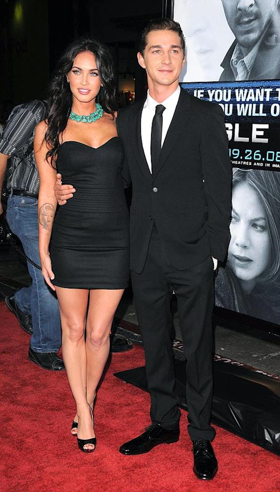 """Shia LaBeouf may be the star of the upcoming thriller """"Eagle Eye,"""" but it was his """"Transformers"""" costar Megan Fox who upstaged him at the film's LA premiere on Tuesday. The actress revealed to GQ last week that she once fell hard for a female stripper named """"Nikita."""" Devan/<a href=""""http://www.infdaily.com"""" target=""""new"""">INFDaily.com</a> - September 16, 2008"""