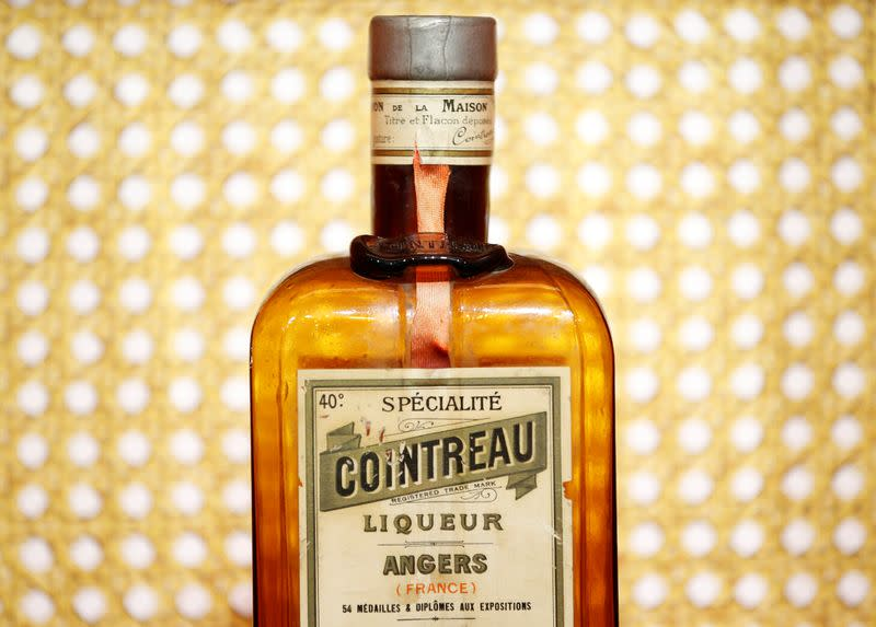A bottle of Cointreau is displayed at the Carre Cointreau in the Cointreau distillery in Saint-Barthelemy-d'Anjou