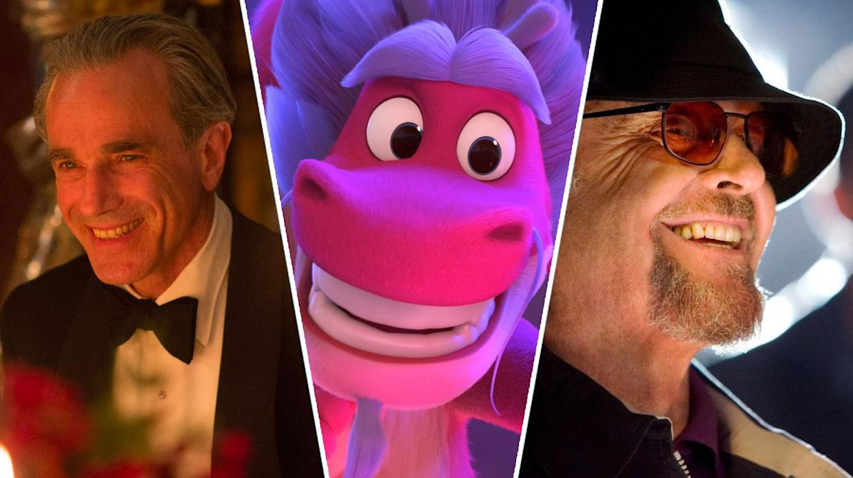 Phantom Thread, Wish Dragon, The Departed are all new to UK streaming this weekend (Universal Pictures/Netflix/Warner Bros)