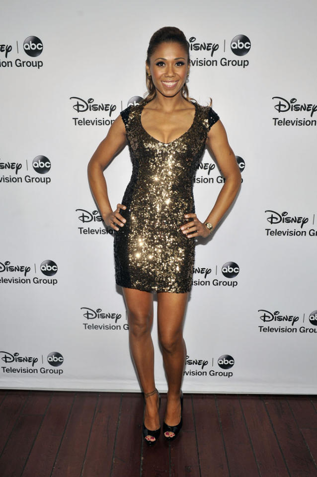 "Toks Olagundoye (""The Neighbors"") attends the Disney ABC Television Group 2013 TCA Winter Press Tour at The Langham Huntington Hotel and Spa on January 10, 2013 in Pasadena, California."