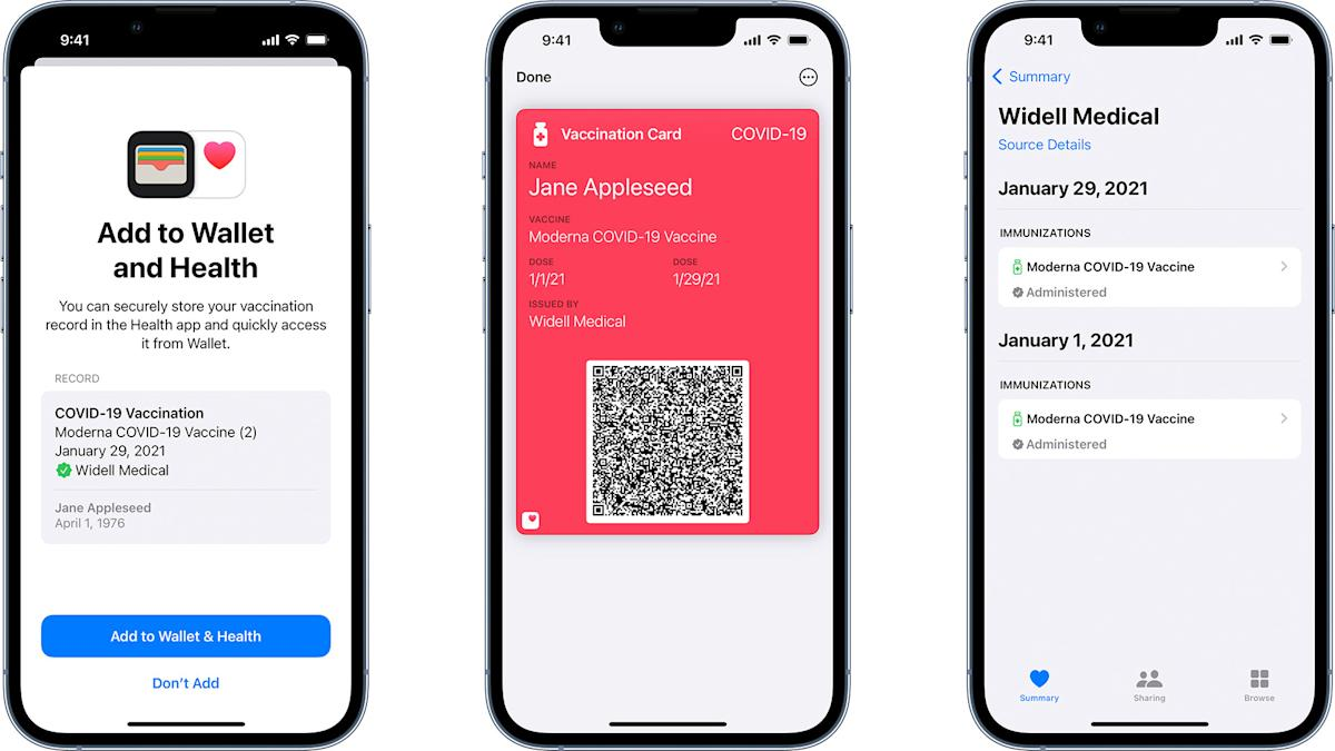 Apple Wallet is getting verifiable COVID-19 vaccination cards - Yahoo Singapore News