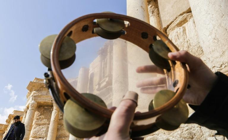 The media event at the the ancient Syrian city of Palmyra on March 4, comes less than 48 hours after regime forces recaptured the city from jihadists fighters