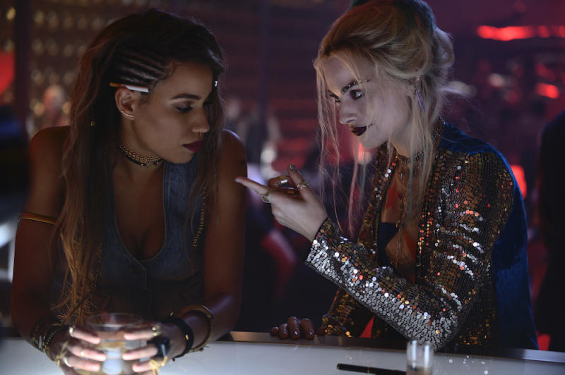 Jurnee Smollett-Bell as Dinah Lance and Margot Robbie as Harley Quinn in Birds of Prey (PHOTO: Warner Bros Pictures)