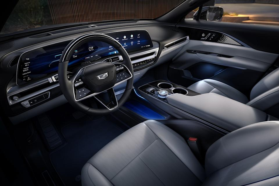 Cadillac Lyriq EV crossover interior