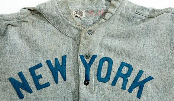 Babe Ruth s circa 1920 New York Yankees  jersey is predicted to sell for a  record sum d0ccfe69d7b
