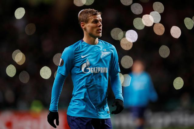 Soccer Football - Europa League Round of 32 First Leg - Celtic vs Zenit Saint Petersburg - Celtic Park, Glasgow, Britain - February 15, 2018 Zenit St. Petersburg's Aleksandr Kokorin REUTERS/Russell Cheyne