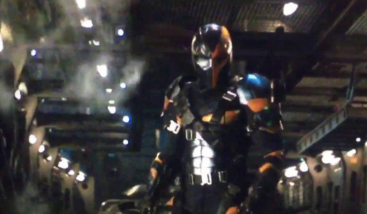 August 2015 test footage of Joe Manganiello as Deathstroke (credit: Warner Bros.)