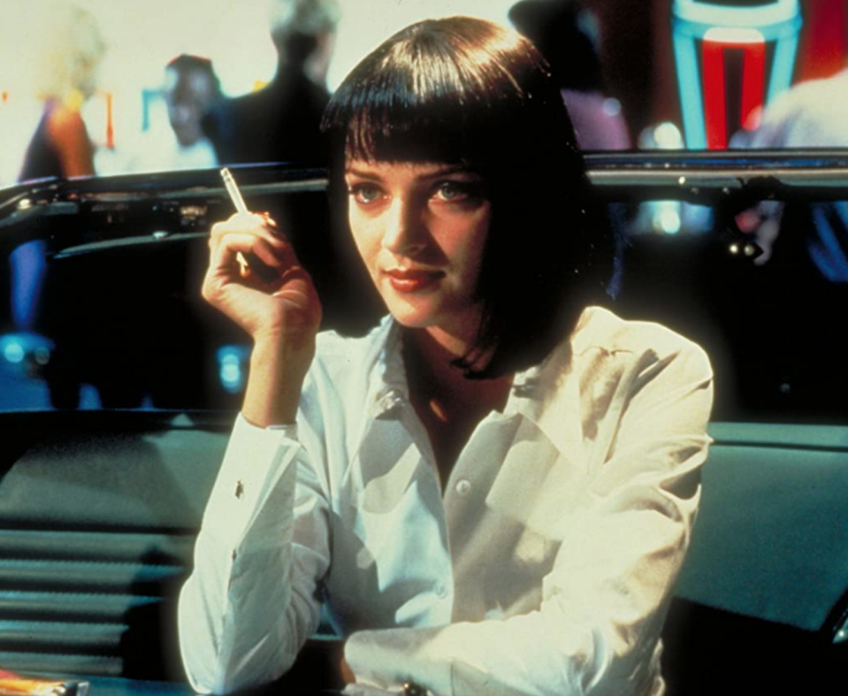 <p>It was the hairstyle that launched thousands of replicas—not to mention killer Halloween costumes. There's no other way to describe Uma Thurman's bob in <em>Pulp Fiction </em>other than a work of art.</p>