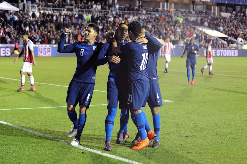 Bobby Wood's penalty was all that separated the United States from Paraguay on the scoreboard. (EFE)