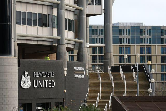 A view outside Newcastle's St James' Park