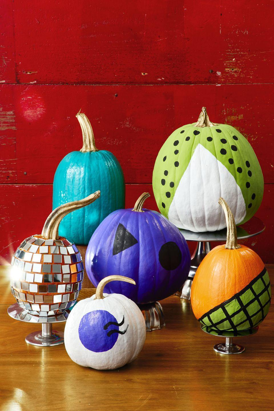 """<p>Bring back the party with these fun, retro painted pumpkins. </p><p><strong><em><a href=""""https://www.womansday.com/home/crafts-projects/a29252402/so-retro/"""" rel=""""nofollow noopener"""" target=""""_blank"""" data-ylk=""""slk:Get the So Retro Pumpkins tutorial."""" class=""""link rapid-noclick-resp"""">Get the So Retro Pumpkins tutorial.</a></em></strong></p><p><a class=""""link rapid-noclick-resp"""" href=""""https://www.amazon.com/Acrylic-Painting-Beginners-Students-Professionals/dp/B087T2G3BJ/?tag=syn-yahoo-20&ascsubtag=%5Bartid%7C10070.g.331%5Bsrc%7Cyahoo-us"""" rel=""""nofollow noopener"""" target=""""_blank"""" data-ylk=""""slk:SHOP ACRYLIC PAINT"""">SHOP ACRYLIC PAINT</a> </p>"""