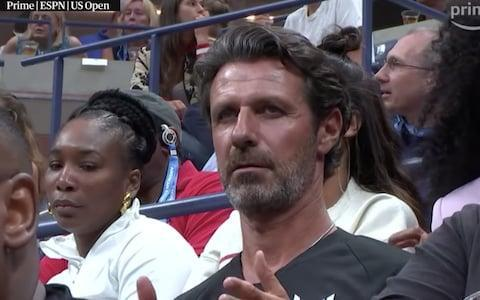 <span>Mouratoglou admitted to the press he had coached Serena mid-match before he had discussed the matter with her</span> <span>Credit: Amazon Prime </span>