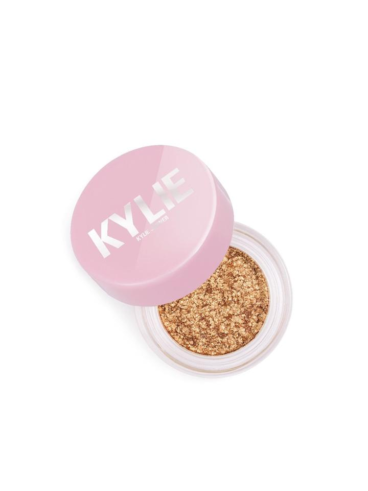 "$20, Kylie Cosmetics. <a href=""https://www.kyliecosmetics.com/collections/kylies-22nd-birthday-collection/products/dime-piece-shimmer-eye-glaze"">Get it now!</a>"