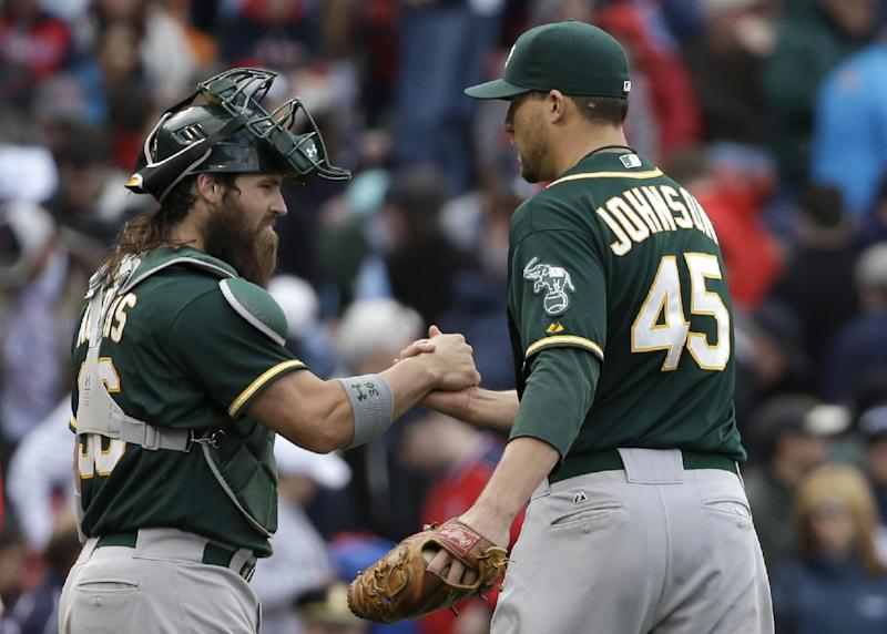 A's salvage finale against Red Sox, 3-2