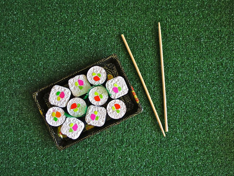 """I'm sorry, but once you've experienced the joys of making chalk drawings using <a href=""""https://tweemade.com/collections/shoptwee/products/sushi-maki-roll-sidewalk-chalk"""" target=""""_blank"""" rel=""""noopener noreferrer"""">chalk shaped like sushi, </a>everything lacks that certain je ne sais quoi. It's a travesty that we've lived so long with, ugh, chalk that looks like chalk."""