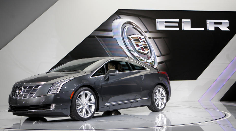 The 2014 Cadillac ELR plug-in hybrid is introduced at the North American International Auto Show in Detroit, Michigan January 15, 2013. REUTERS/Rebecca Cook (UNITED STATES - Tags: TRANSPORT BUSINESS)