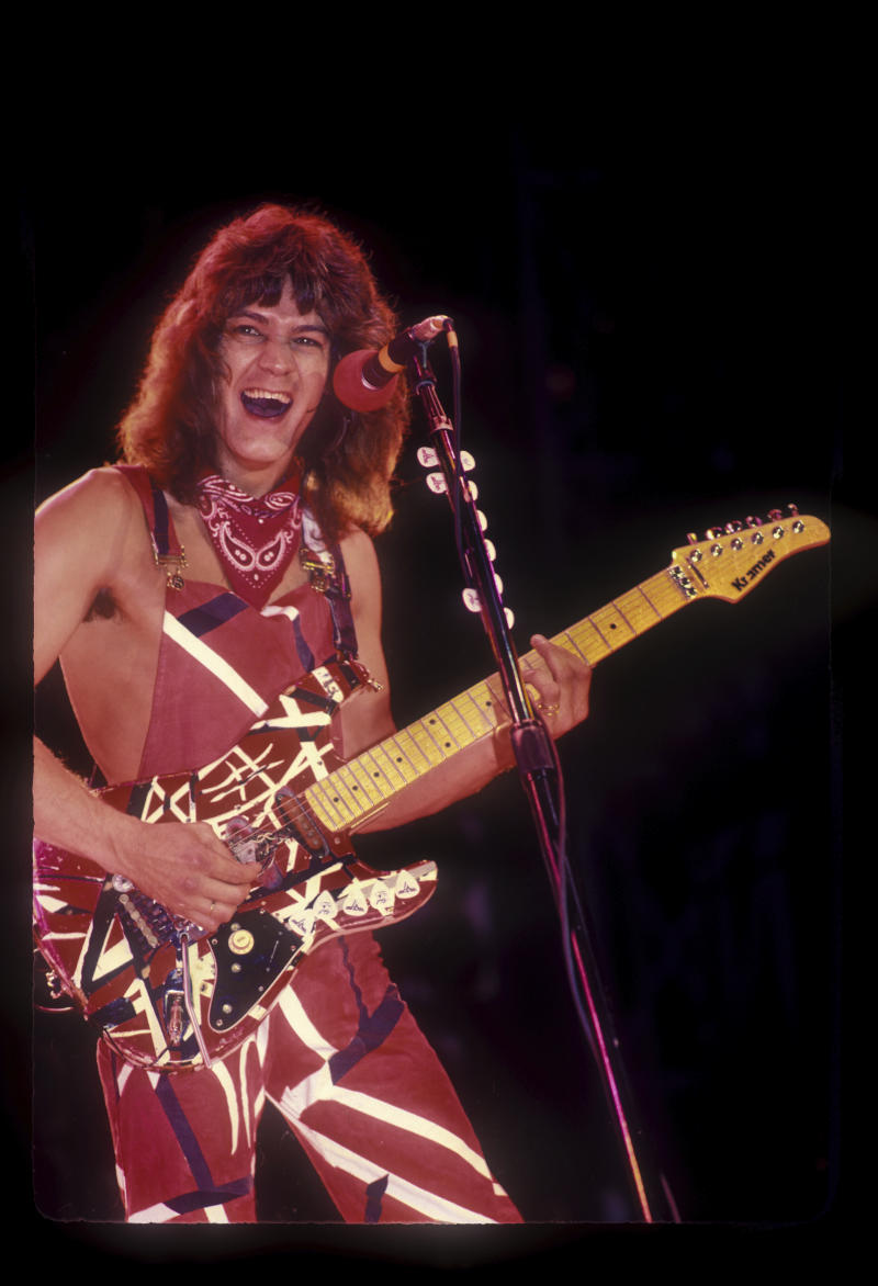 Eddie Van Halen performing live at The 1983 US Festival held at Glen Helen Regional Park in San Bernardino, CA USA on May 29, 1983. Photo © Kevin Estrada / Media Punch /IPX