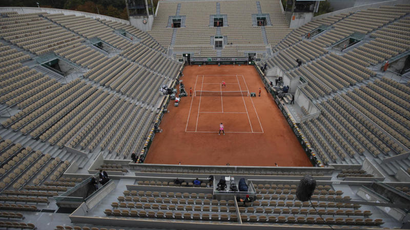 Empty seats and dreary weather as French Open gets off to muted start