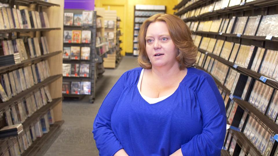 Sandi Harding is the manager of the world's last Blockbuster video, located in Bend, Oregon (Photo: 1091 Pictures)