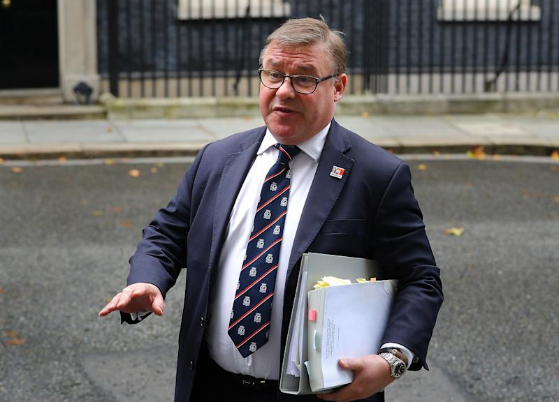 Mark Francois in Downing Street, London.