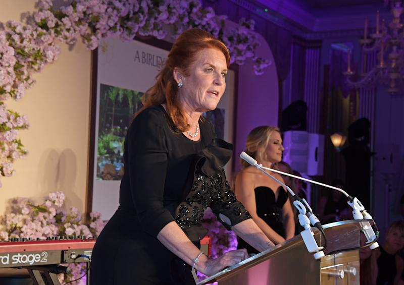 LONDON, ENGLAND - OCTOBER 16: Sarah Ferguson, Duchess of York attends the Lady Garden Foundation Gala 2019 at Claridge's Hotel on October 16, 2019 in London, England. (Photo by David M. Benett/Dave Benett/Getty Images)