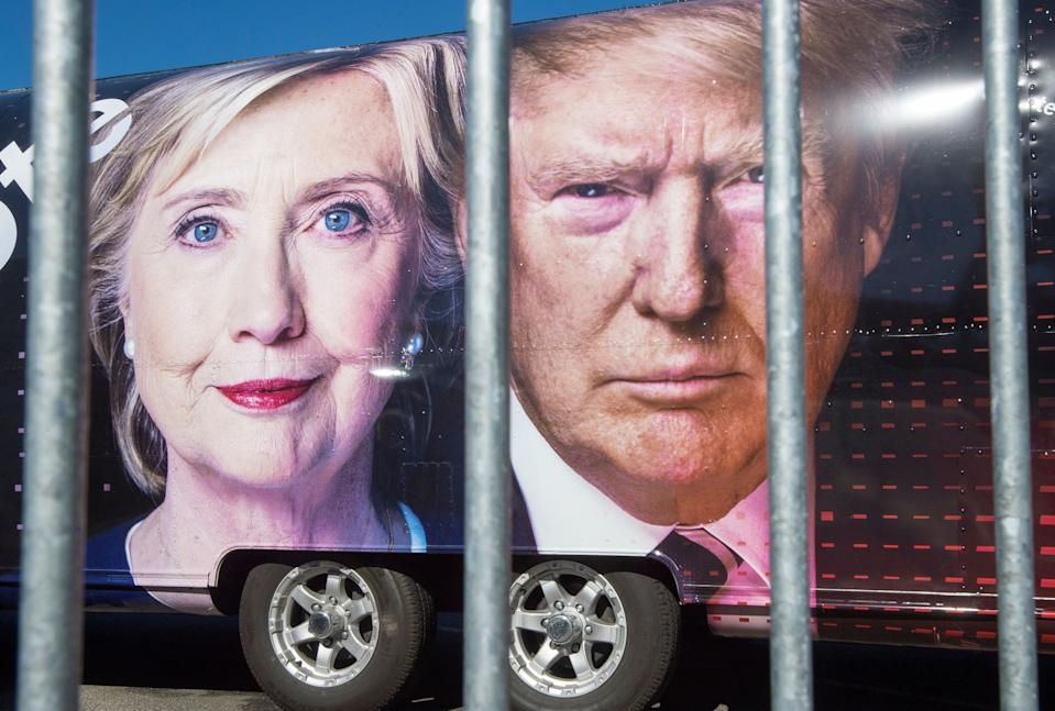 One of the biggest divides was between Clinton and Trump supporters. (Photo: PAUL J. RICHARDS/AFP/Getty Images)