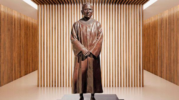 PHOTO: A bronze statue of Ruth Bader Ginsburg will be unveiled in Brooklyn, New York, in March 2021. (Gillie and Marc)
