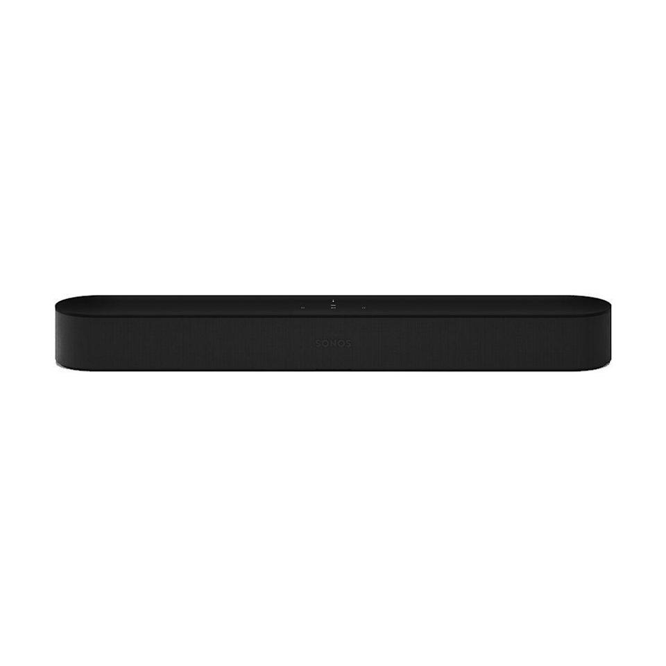 """<p><strong>Sonos</strong></p><p>sonos.com</p><p><strong>$399.00</strong></p><p><a href=""""https://go.redirectingat.com?id=74968X1596630&url=https%3A%2F%2Fwww.sonos.com%2Fen-us%2Fshop%2Fbeam.html&sref=https%3A%2F%2Fwww.bestproducts.com%2Ftech%2Felectronics%2Fg34374775%2Fbest-sonos-speaker%2F"""" rel=""""nofollow noopener"""" target=""""_blank"""" data-ylk=""""slk:Shop Now"""" class=""""link rapid-noclick-resp"""">Shop Now</a></p><p>The Sonos Beam is a smart soundbar with a sleek, space-saving design. It's wrapped in a piece of knitted polyester, but on the inside you'll find a center tweeter, three passive radiators, four woofers, and a five-microphone array. The latter is for interacting with the speaker hands-free using Alexa or the Google Assistant.</p><p>The soundbar doesn't dish out the deep bass or Atmos sound effects like the much pricier Sonos Arc speaker, but it will still greatly enrich your entertainment experience over the built-in speakers that are on your TV. As you'd expect, it supports AirPlay 2, and can pair with other Sonos speakers to complete your home theater's surround sound system.</p>"""