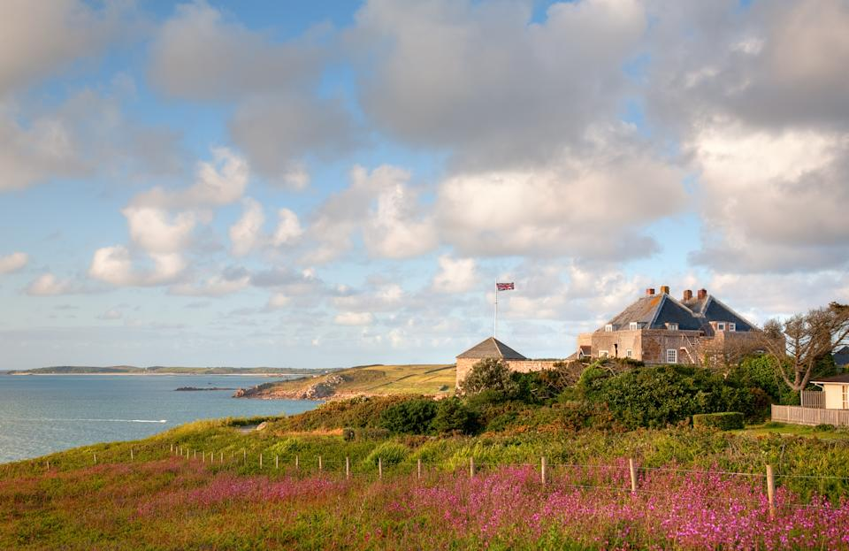 Star Castle Hotel on St Mary's, Isles of Scilly, Cornwall, England.