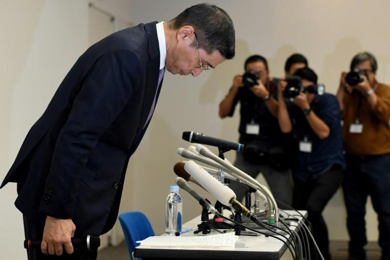 Saikawa (L), who took over the top position from Carlos Ghosn earlier this year, has said the crisis was likely to cost the firm around 25 billion yen ($222 million)