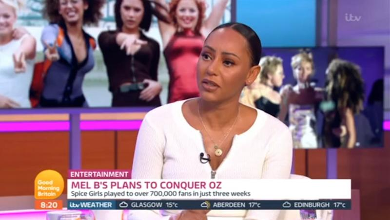 """Mel B has admitted that she was """"disappointed"""" by Victoria Beckham's Spice Girls no-show.Beckham chose not to take part in the band's recent reunion tour in order to focus on her fashion line and did not attend any of the group's stadium shows, despite previously teasing a surprise appearance.Speaking to Piers Morgan and Susanna Reid on Good Morning Britain, the Scary Spice star revealed that she was """"upset"""" by Beckham's absence as she had expected her former band mate to """"just say hi at least.""""As Reid asked her if she was """"disappointed that Posh didn't turn up right at the end"""" for the group's Wembley shows, the singer responded: """"I expected her to come and just say hi at least, not even on stage, just as an audience member supporting.""""Morgan then quizzed the star (real name Melanie Brown) over the reasons behind Beckham's non-attendance.""""Do I look like I know?"""" Brown replied. """"I don't know. I'm sure she has her reasons for not.""""I was upset, I still am a little bit, but it is what it is and us girls we all support each other no matter what but yeah.""""Brown was keen to shrug off any suggestion of bad feeling as Reid asked her whether Beckham's absence was indicative of a """"rift"""" in the band, but admitted that it had been """"disappointing.""""""""No, we're all adults, we have to respectfully get on with whatever, but it is a bit disappointing, put it that way,"""" she said. The singer also defended her shock claim that she had slept with bandmate Geri Horner in the 90s, telling the hosts that she is """"not a liar"""" and is """"very honest.""""""""Listen, [Horner is] used to dealing with me, so I'm going to say whatever I'm going to say, within reason respectfully, and I'm going to tell the truth,"""" she said. """"So she just has to swallow that pill. I'm not apologising.""""""""I'm not a liar, I've already said that. It's old news, this happened such a long time ago, you know.""""Good Morning Britain airs weekdays on ITV from 6am."""
