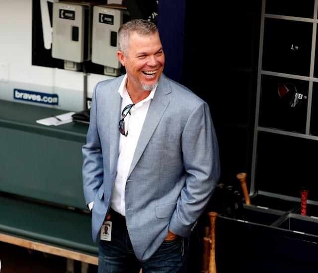 Former Atlanta Braves third baseman Chipper Jones recalled a funny moment from his playing career. (AP Photo/John Bazemore)