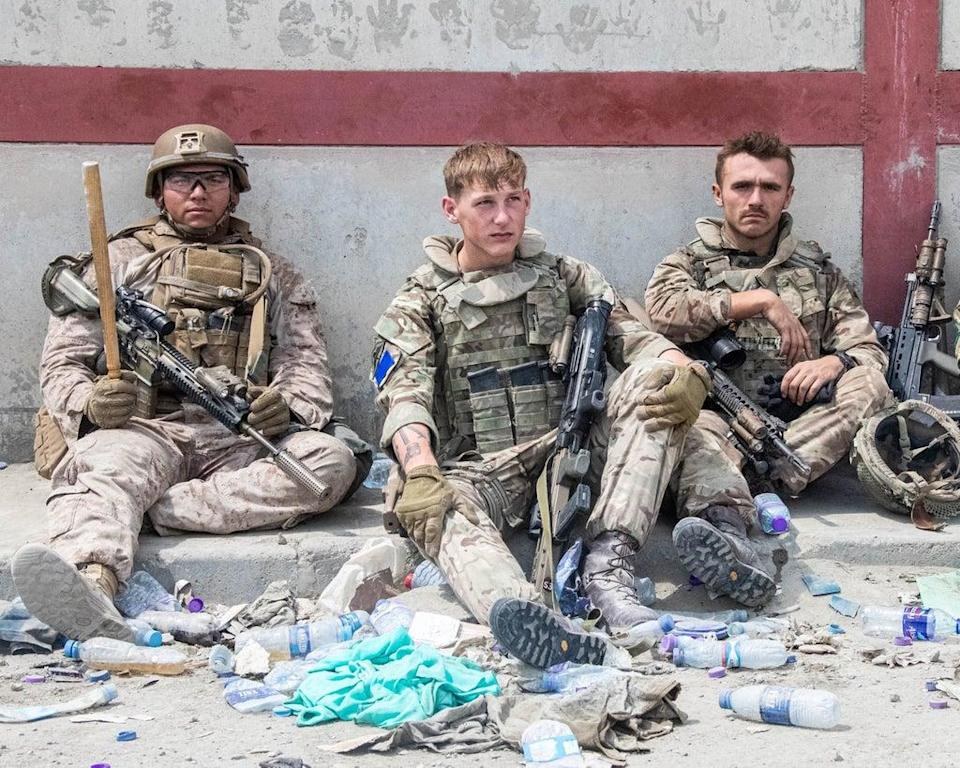 The UK's most senior officer in Kabul said British troops had witnessed 'harrowing scenes' during the evacuation mission (MoD) (PA Media)