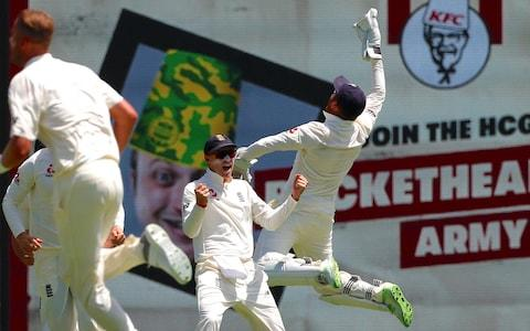 Joe Root is delighted by the early breakthrough - Credit: REUTERS/David Gray