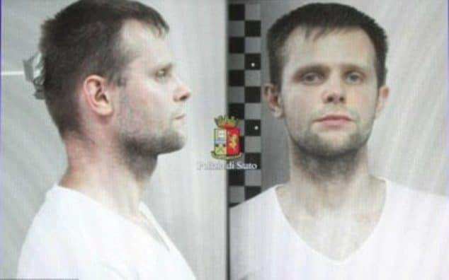 Lukasz Pawel Herba, 30, a Polish citizen who lives in the UK, was arrested by police - Polizia Di Stato