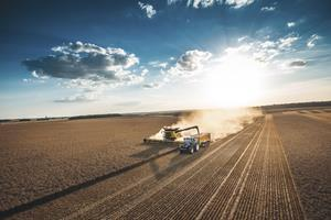 New Holland Agriculture machinery in the field