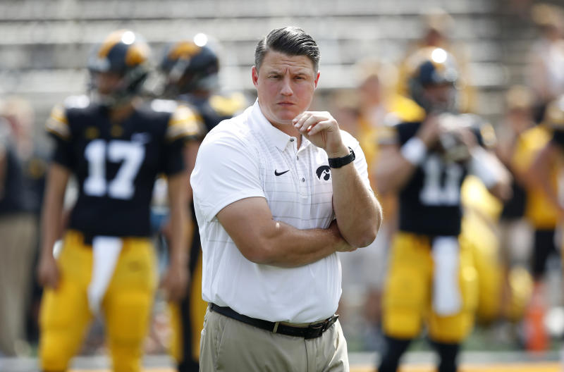Iowa Coach Kirk Ferentz on son's outburst Saturday