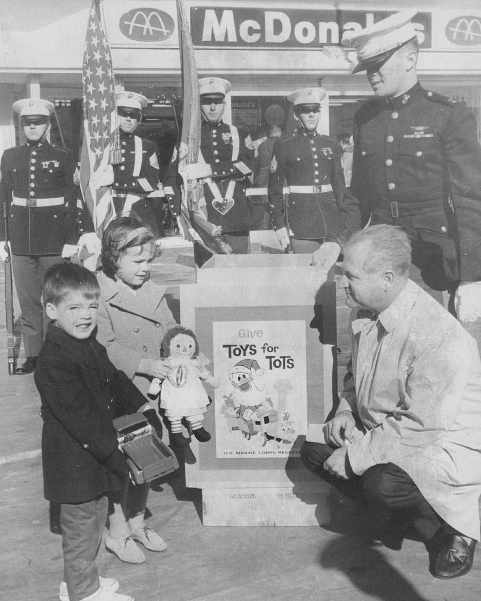 <p>In the '60s, children who donated their old toys to Toys for Tots received a certificate for a free hamburger and French fries. Approximately 20,000 children across 30 hospitals, orphanages, and other institutions in north Colorado benefitted from the effort. Be still, our hearts!<br></p>